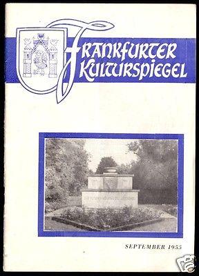 Tour. Broschüre, Frankfurter Kulturspiegel, September 1955
