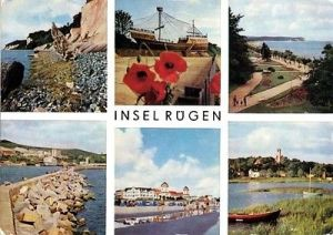 Ansichtskarte, Insel Rügen, 6 Abb., u.a. Kogge Mukran, 1975