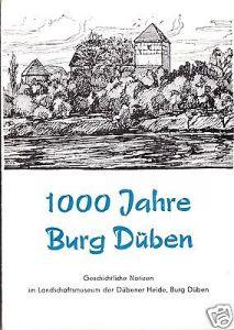 Prospekt, 1000 Jahre Burg Düben, 1984