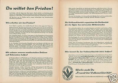 Propagandablatt der Volkssolidarität, 1951