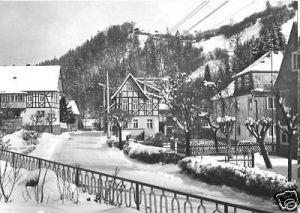 Ansichtskarte, Rohrbach Kr. Rudolstadt, Straßenpartie im Winter