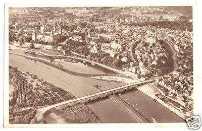 Ansichtskarte, Aschaffenburg, Luftbildansicht, 1934