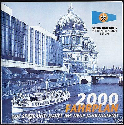 Stern und Kreis Schiffaht Berlin, Fahrplan 2000