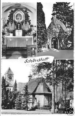 Ansichtskarte, Vallendar - Schönstatt, drei Abb., um 1964