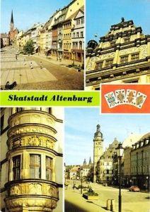 Ansichtskarte, Skatstadt Altenburg, vier Abb., um 1990