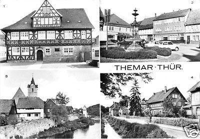 Ansichtskarte, Themar, Kr. Hildburghausen, vier Abb., 1981