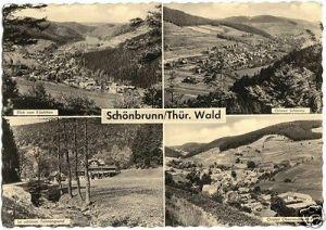 Ansichtskarte, Schönbrunn Thür. Wald, vier Abb., 1962