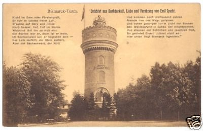 Ansichtskarte, Sachsenwald - Hofriede, Bismarck-Turm, um 1920