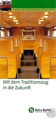 Prospekt, Berlin, Berliner S-Bahn, Mit dem Traditionszug in die Zukunft, um 2000