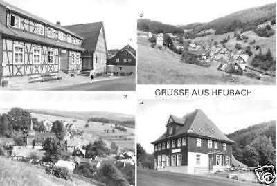 Ansichtskarte, Heubach Kr. Hildburghausen, vier Abb., 1983