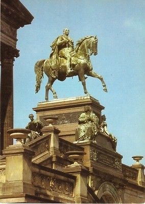 Ansichtskarte, Berlin Mitte, Denkmal vor der Nationalgalerie, 1987