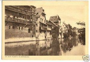 Ansichtskarte, Nürnberg, Partie an der Pegnitz, um 1925