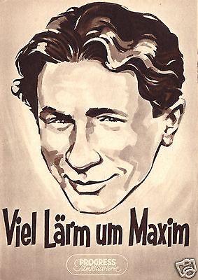 Progress Filmillustrierte, Viel Lärm um Maxim, 1957