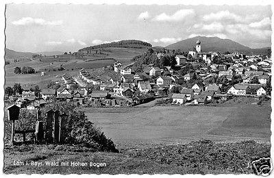 Ansichtskarte, Lam i. Bayr. Wald, Teilansicht mit Hohen Bogen, um 1960