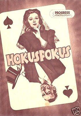 Progress Filmillustrierte, Hokuspokus, 1954