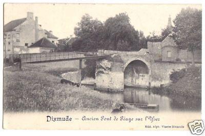Ansichtskarte, Dixmude, Diksmuide, Ancien Pont de Peage sur l'Yser