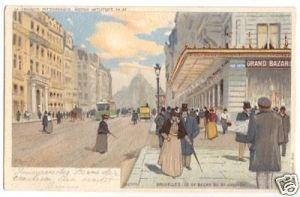 Litho-Ansichtskarte, Brüssel, Bruxelles, Le Grand Bazar, 1904