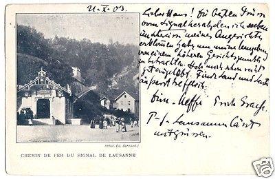 Ansichtskarte, Lausanne, Kanton Waadt, Chemin de der du Signal de Lausanne, 1903