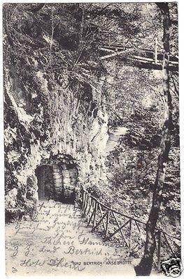 Ansichtskarte, Bad Bertrich Bz. Coblenz, Käsegrotte, 1909