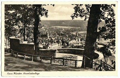 Ansichtskarte, Hann. Münden, Weserliedanlage, 1955