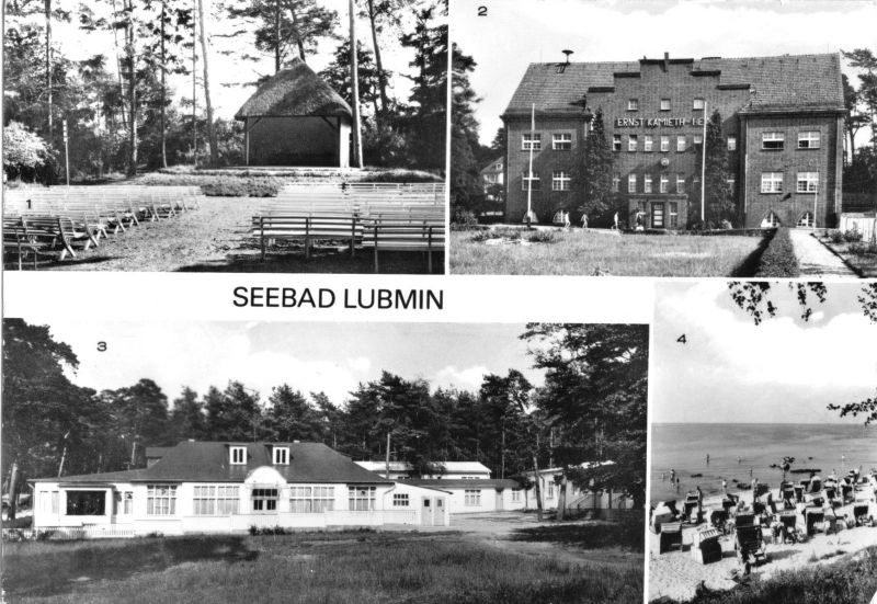 Ansichtskarte, Seebad Lubmin, vier Abb., um 1982