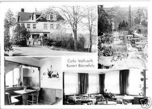 Ansichtskarte, Kurort Bärenfels Osterzgeb., Café Vollrath, vier Abb., 1985
