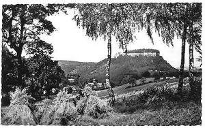 Ansichtskarte, Königstein Sächs. Schweiz, Blick von Pfaffendorf zur Festung, 1961