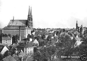 Ansichtskarte, Görlitz, Teilansicht, Altstadt m. Peterskirche 1974