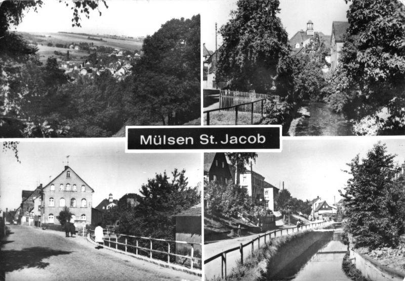 Ansichtskarte, Mülsen St. Jacob, vier Abb., 1976