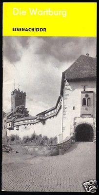 Tour. Broschüre, Die Wartburg, Eisenach, 1986
