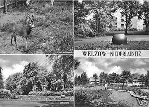 Ansichtskarte, Welzow Niederlausitz, vier Abb., 1967