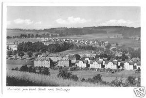 Ansichtskarte, Wunsiedel, Jean-Raul-Schule und Siedlungen, um 1955