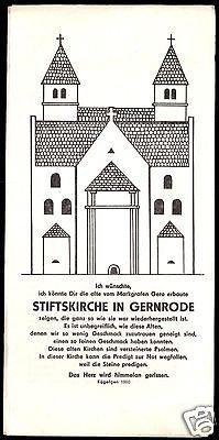 Prospekt, Stiftskirche in Gernrode Harz, 1985
