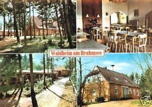 Ansichtskarte, Brahmsee Post Nortorf i. Holst., Ev. Jugendheim am Brahmsee, 4 Abb., um 1980