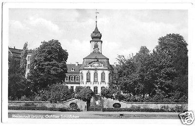 Ansichtskarte, Leipzig, Gohliser Schlößchen, 1954