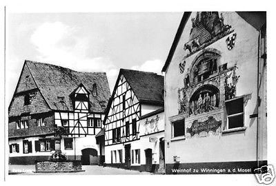 Ansichtskarte, Winningen Mosel, Weinhexenhaus m. Weinbrunnen, 1964