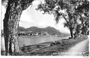 Ansichtskarte, Königswinter, Blick auf Königswinter und Drachenfels, um 1964