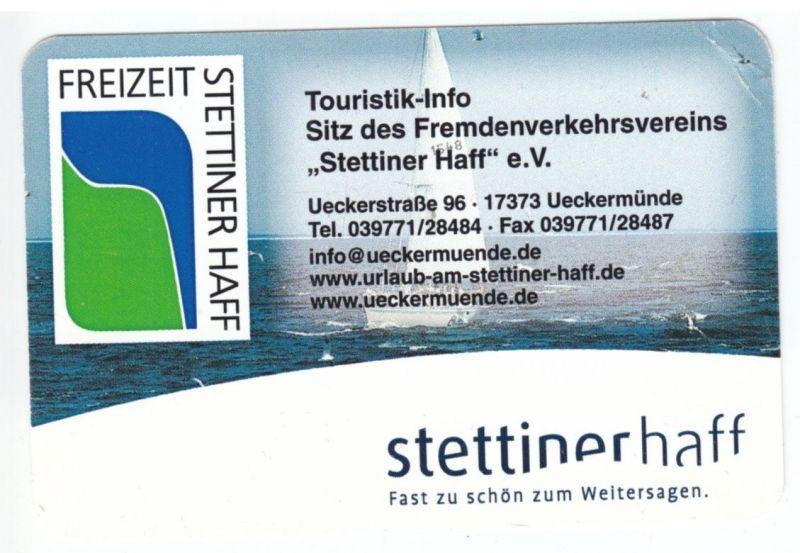 Kalender Scheckkartenformat, 2007, Werbung: Touristik-Info