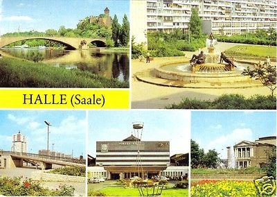 Ansichtskarte, Halle Saale, fünf Abb., 1983