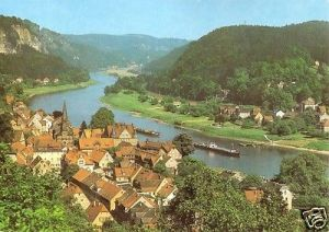 Ansichtskarte, Stadt Wehlen Sächs. Schweiz, Teilansicht, 1986