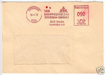 AFS, VEB Dampfkesselbau Dresden-Übigau, o Dresden, 8030, 31.1.73 Nr ...