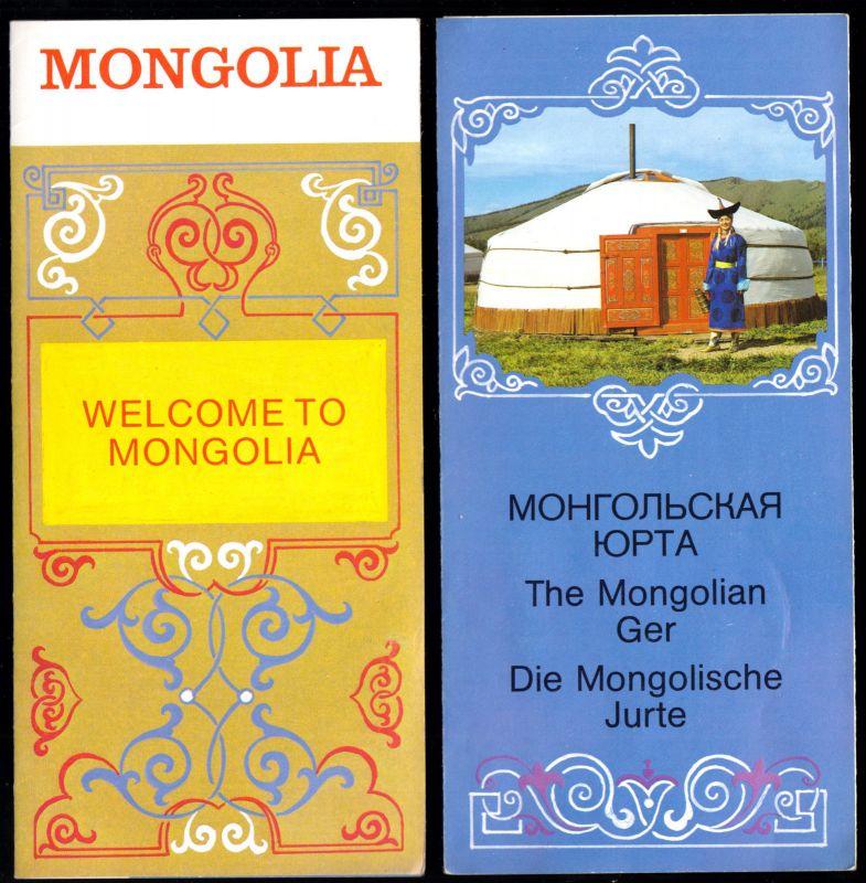 Zwei tour. Prospekte, Mongolai, um 1990