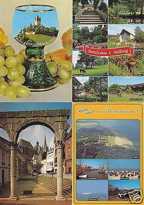 Posten (1) von über 100 Color-Ansichtskarte, quer durch die alte BRD, 1980er/90er