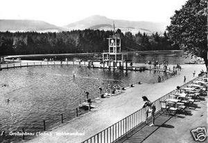 Ansichtskarte, Großschönau, Waldstrandbad, 1968