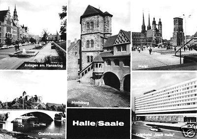 Ansichtskarte, Halle Saale, fünf Abb., 1969