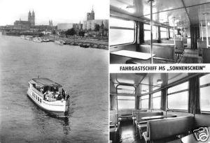 Ansichtskarte, Magdeburg, Weiße Flotte, MS Sonnenschein, 1976