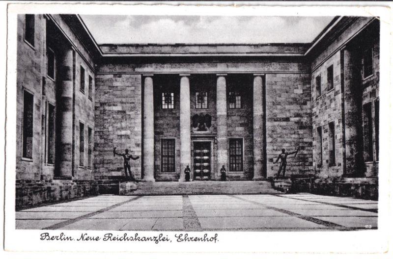 Ansichtskarte, Berlin Mitte, Neue Reichskanzlei, Ehrenhof, 1943