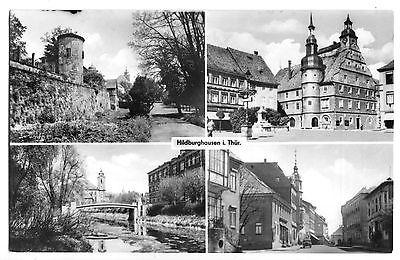 Ansichtskarte, Hildburghausen Thür., vier Abb., 1960