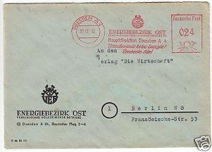 AFS, VEB Energiebezirk Ost, Hauptdirektion, Dresden A4, o Dresden A4, 20.12.51
