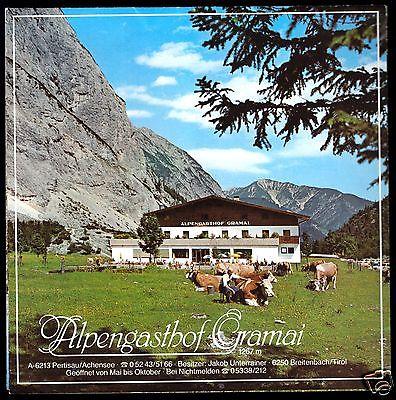 Prospekt, Alpengasthof Gramai, Pertisau Achensee, Tirol, Österreich, um 1978